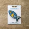Fish design fridge magnet in deep blue colour variation by Beyond the Fridge