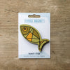 Fish design fridge magnet in deep kelp colour variation by Beyond the Fridge