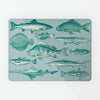 Fish Illustration magnetic notice board metal wall art panel