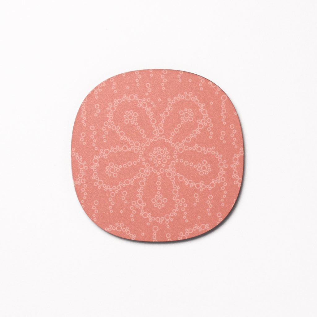 Fizzy Flower design coaster - Pink Fizz