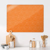 Fizzy Flowers Orange Design Large Magnetic Board in a kitchen setting