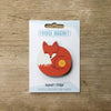 Sleeping Fox design fridge magnet by Beyond the Fridge