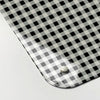 gingham black and white design magnetic memo board corner detail