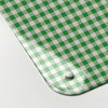 gingham green design magnetic memo board corner detail