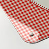 gingham appliqué heart design magnetic dry erase memo board corner detail