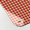 gingham red design magnetic memo board corner detail