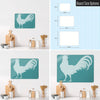 Gingham Cockerel Design Magnetic Board Size Options