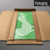 Gingham Cockerel green magnetic board in packaging