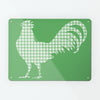 Gingham Cockerel Green Magnetic Notice Board
