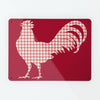 Gingham Cockerel Red Magnetic Notice Board