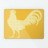 Gingham Cockerel Yellow Magnetic Notice Board