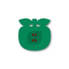 apple shaped coaster - green