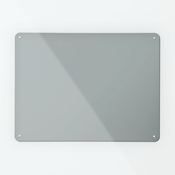 Plain Grey Magnetic Notice Board
