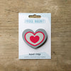 Heart design fridge magnet in grey colour variation by Beyond the Fridge