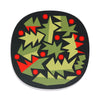 abstract holly design christmas placemat