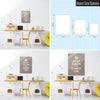 Brown Keep Calm and Carry on Magnetic Board Size Options