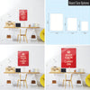 Red Keep Calm and Carry on Magnetic Board Size Options