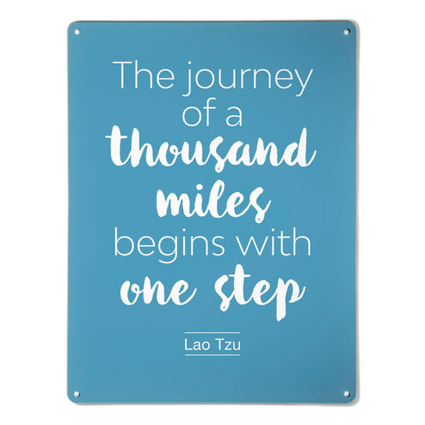 'Inspirational Quote | Lao Tzu' - Large Magnetic Notice Board / Wall Art
