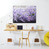 Lilac Flowers Large Magnetic Board in a workspace setting