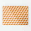 block design repeat pattern magnetic board / metal wall art panel in orange colour option