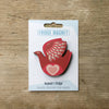 Retro Bird design fridge magnet in love bird colour variation by Beyond the Fridge