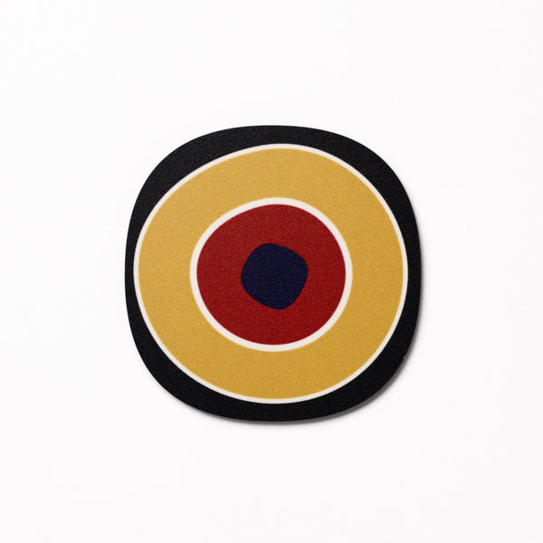 Millefiori design coaster number 1 - Black