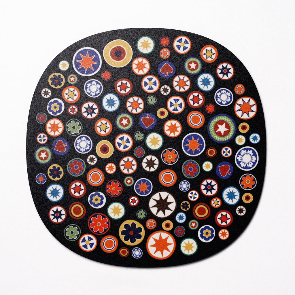 Millefiori design placemat - Black