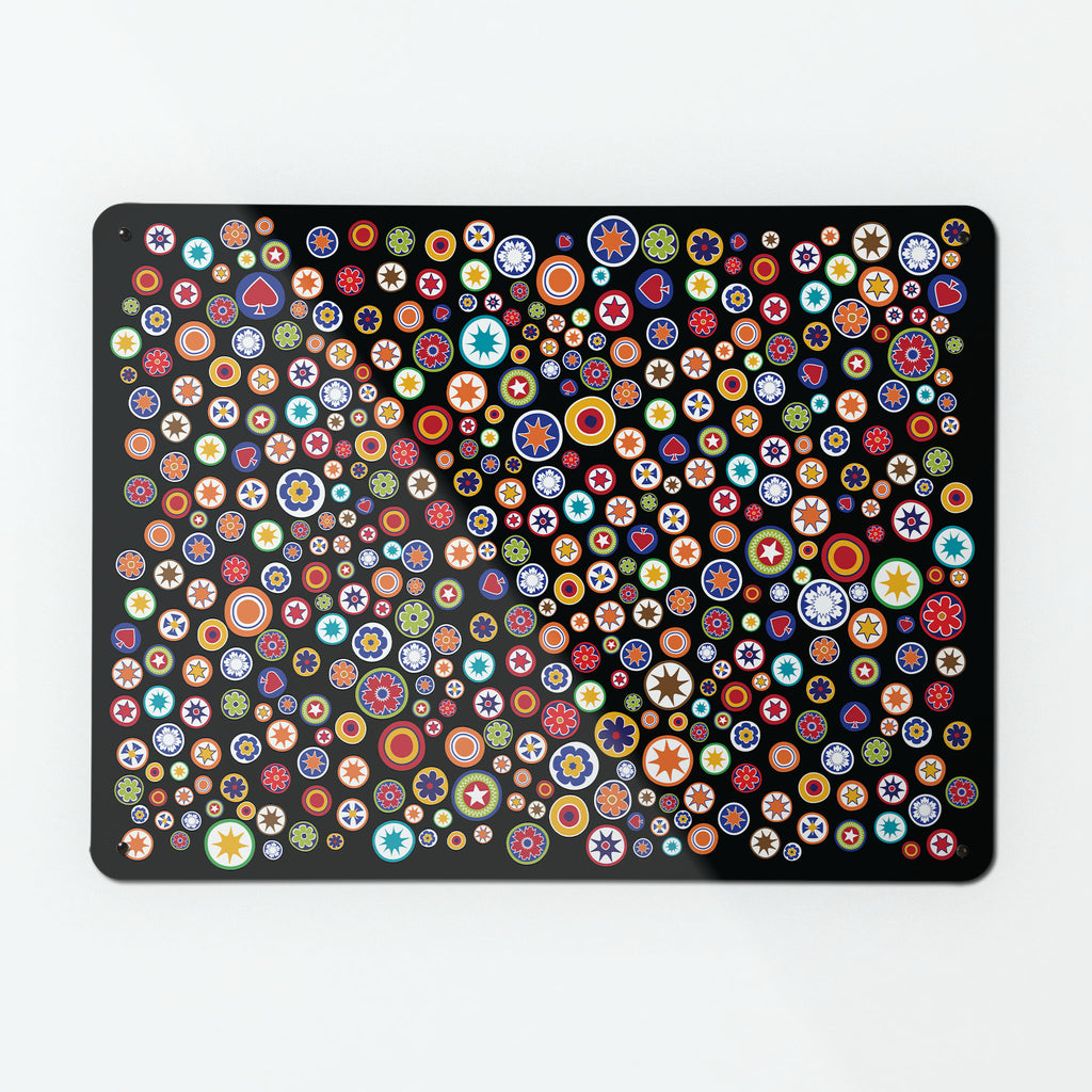 Millefiori on Black Magnetic Board