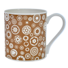 Bone China Mug Millefiori Design Brown