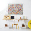 Millefiori on Grey Design Magnetic Board in a workspace setting