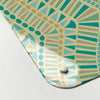 mosaic wave design ocean magnetic memo board  corner detail