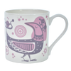 Bone China Mug Night Garden Design Pink