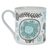 Bone China Mug Night Garden Design Blue