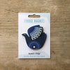 Retro Bird design fridge magnet in night bird colour variation by Beyond the Fridge