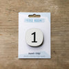 Number One Fridge Magnet by Beyond the Fridge