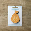 Pear design fridge magnet in orange colour variation by Beyond the Fridge