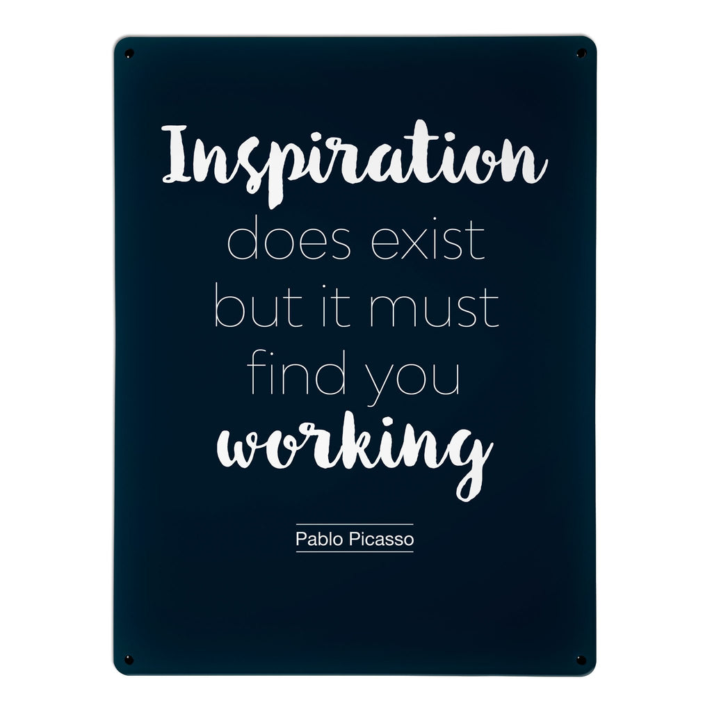 'Inspirational Quote | Pablo Picasso' - Large Magnetic Notice Board / Wall Art