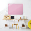 Plain Pink Magnetic Board in a workspace setting