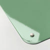 plain green magnetic memo board corner detail