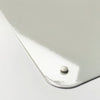 plain white magnetic memo board corner detail