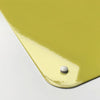 plain yellow magnetic memo board corner detail