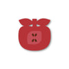 apple shaped coaster - red