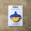 Blue Retro Pendant Lamp Fridge Magnet by Beyond the Fridge