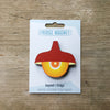 Red Retro Pendant Lamp Fridge Magnet by Beyond the Fridge