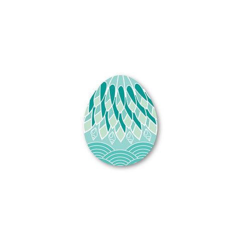 Retro Bird Egg Shaped - Coasters