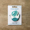 Retro Bird design fridge magnet in seabird colour variation by Beyond the Fridge