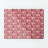 Shards design small magnetic notice board or metal wall art panel in cotton candy colour by Beyond the Fridge