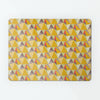 Shards design small magnetic notice board or metal wall art panel in summer colour by Beyond the Fridge