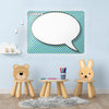Cartoon Speech Bubble Large Dry Erase Design Magnetic Board in a playroom setting