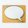 Cartoon Speech Bubble Magnetic Notice Board - Red and Yellow